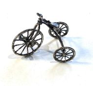 Vintage dutch silver miniature tricycle dutch silver hallmark