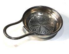 Antique Georgian silver lemon / fruit strainer measures approx 13.5cm by 9cm london silver hallmarks