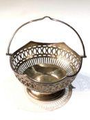 Antique silver sweet basket Birmingham silver hallmarks weight 100g