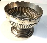 Silver rose bowl measures approx 13.2cm dia height 10cm weight 220g