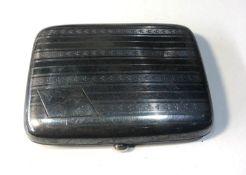 Silver cigarette case weight 80g