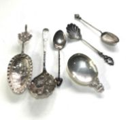 Selection of fancy antique continental silver spoons
