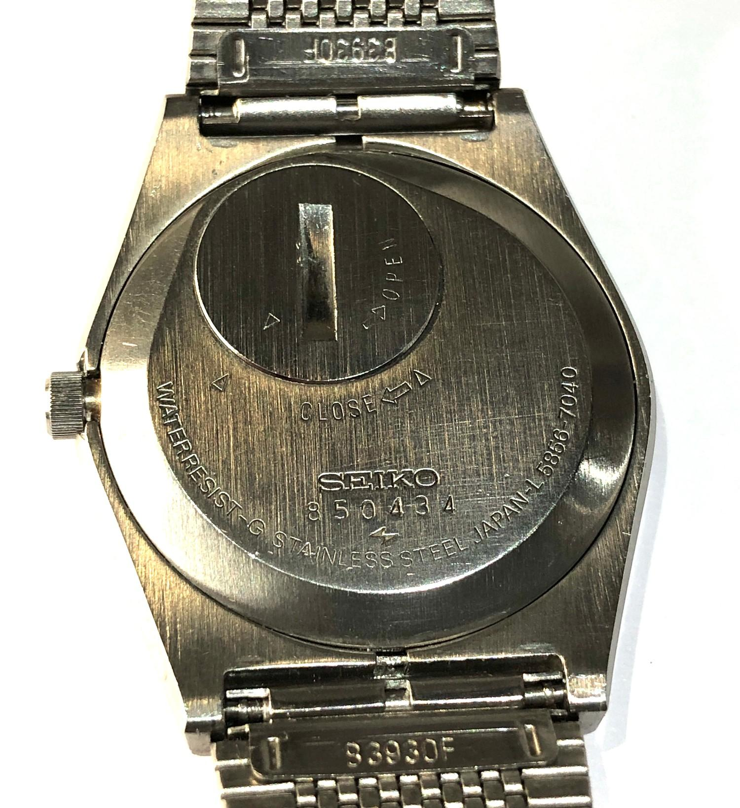 Vintage Seiko king quartz 5856-7040 watch is in working order but no warranty given - Image 4 of 5