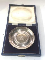 Boxed the queens silver jubilee silver coaster weight 70g