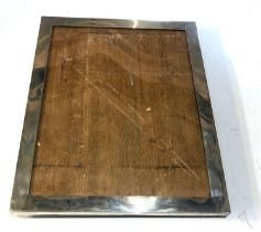 Large antique silver picture frame London silver hallmarks measures approx 30cm by 25cm back stand