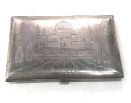 ww2 silver trench art cigarette case