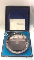1952-1977 boxed Queen Elizabeth 11 silver jubilee tray