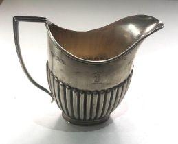 Silver milk jug London silver hallmarks weight 108g