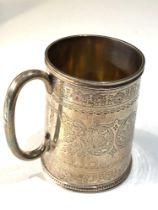 Antique silver christening mug hallmarks worn weight 120g