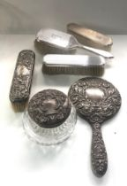 Selection of silver dressing table items