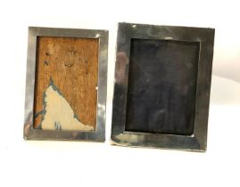 2 antique silver picture frames age related wear marks and dents largest measures approx 17cm by