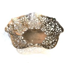 Silver sweet dish measures approx 14cm dia weight 100g