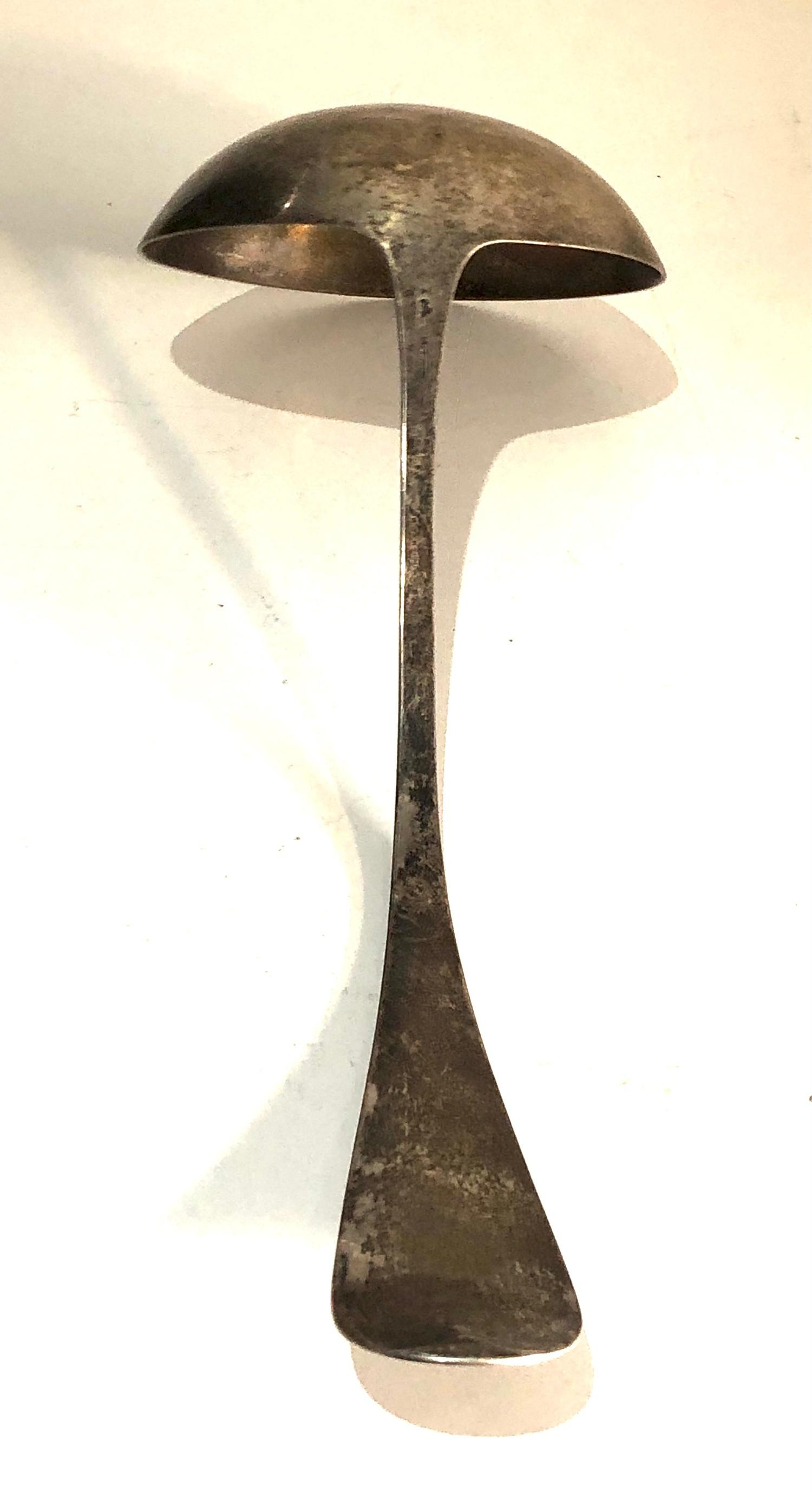 Sterling silver soup ladle weight 120g - Image 3 of 4