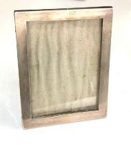 George V silver rectangular easel photograph frame, 15cm high, William Neale, Birmingham 1915