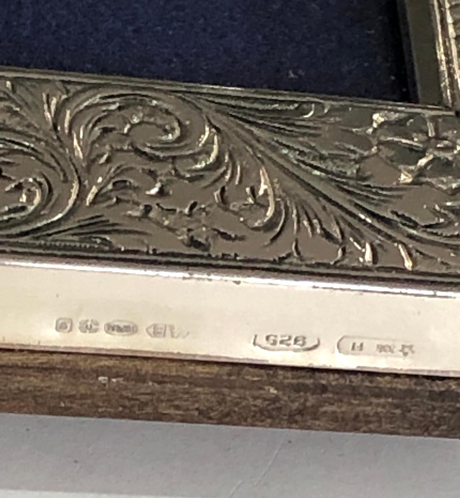 Large silver picture frame measures approx 27cm by 21cm in good overall condition - Image 4 of 4