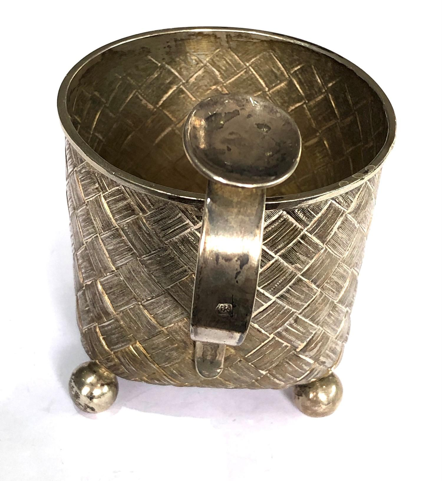 Antique 1877 Russian silver cup lattice work design measures approx height 10cm cup dia 7.5cm full - Image 3 of 7
