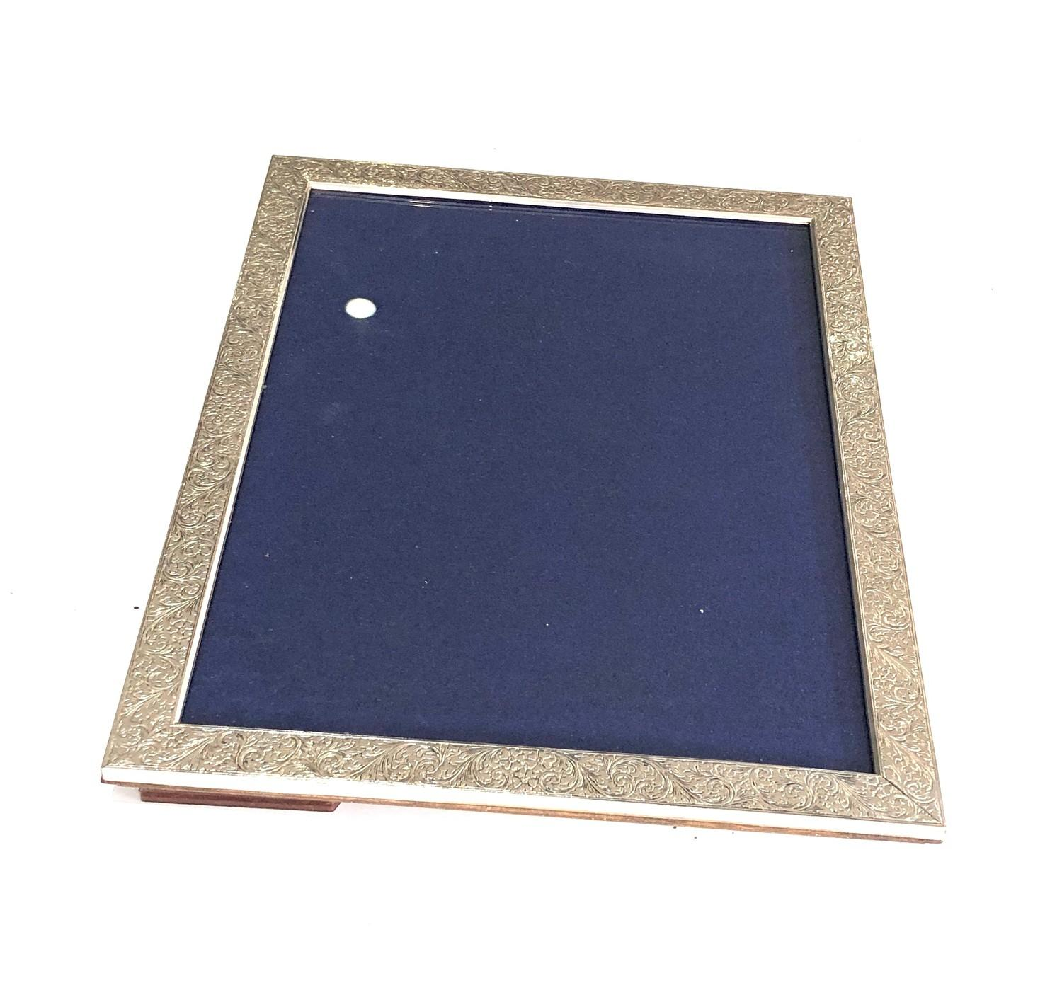 Large silver picture frame measures approx 27cm by 21cm in good overall condition - Image 2 of 4