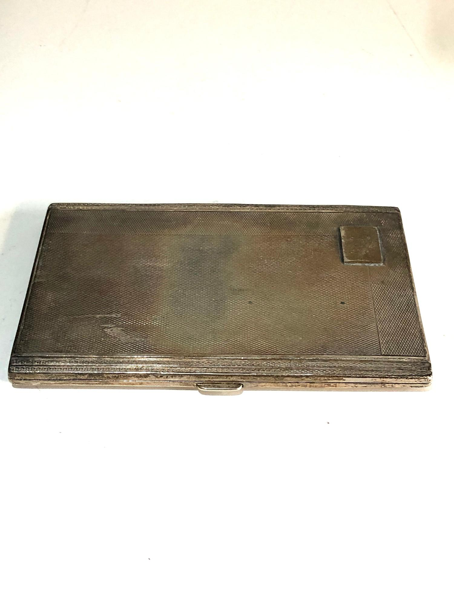 Engine turned silver cigarette case weight 150g - Image 2 of 3