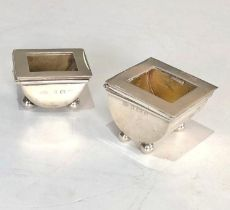 2 antique Silver Stamp Cases hinged lids both with Birmingham silver hallmarks please see images for