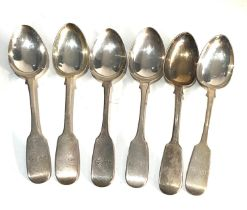 6 victorian silver tea spoons weight 120g