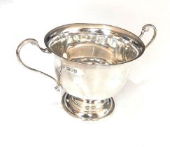 Antique silver 2 handled bowl measures approx 17cm from handles dia 10.5cm height 9cm London