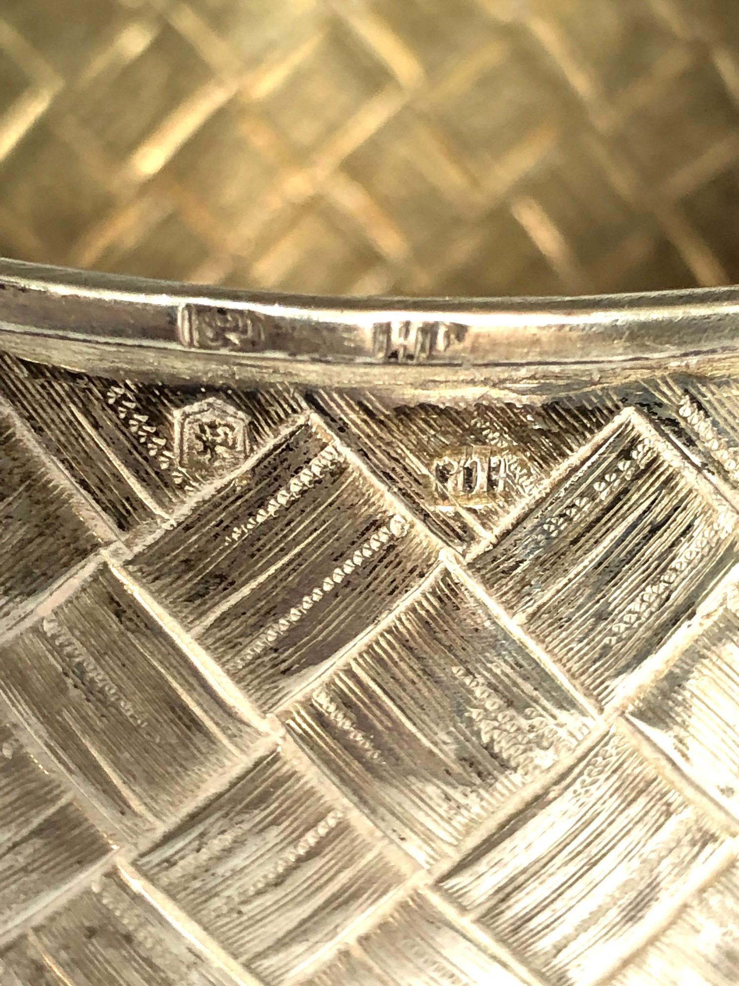 Antique 1877 Russian silver cup lattice work design measures approx height 10cm cup dia 7.5cm full - Image 5 of 7