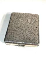 Continental Silver cigarette case weight 120g