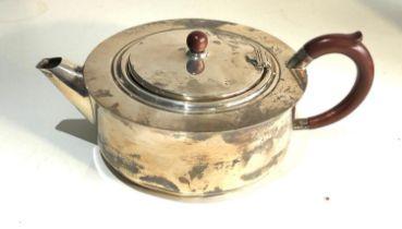Silver teapot Birmingham silver hallmarks weight 340g