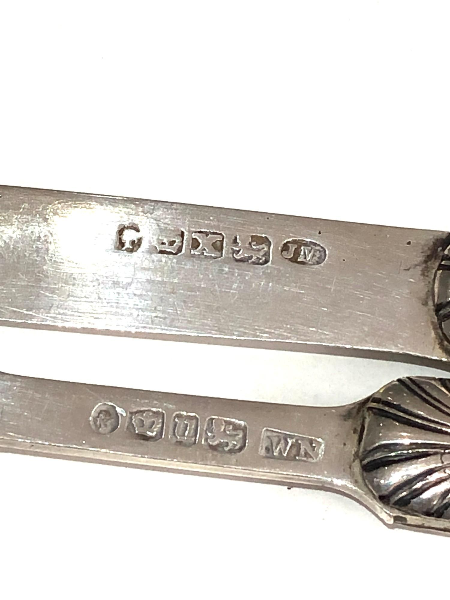 Antique silver & mop knife and fork both have victorian silver hallmarks matching mop handles with - Image 6 of 6