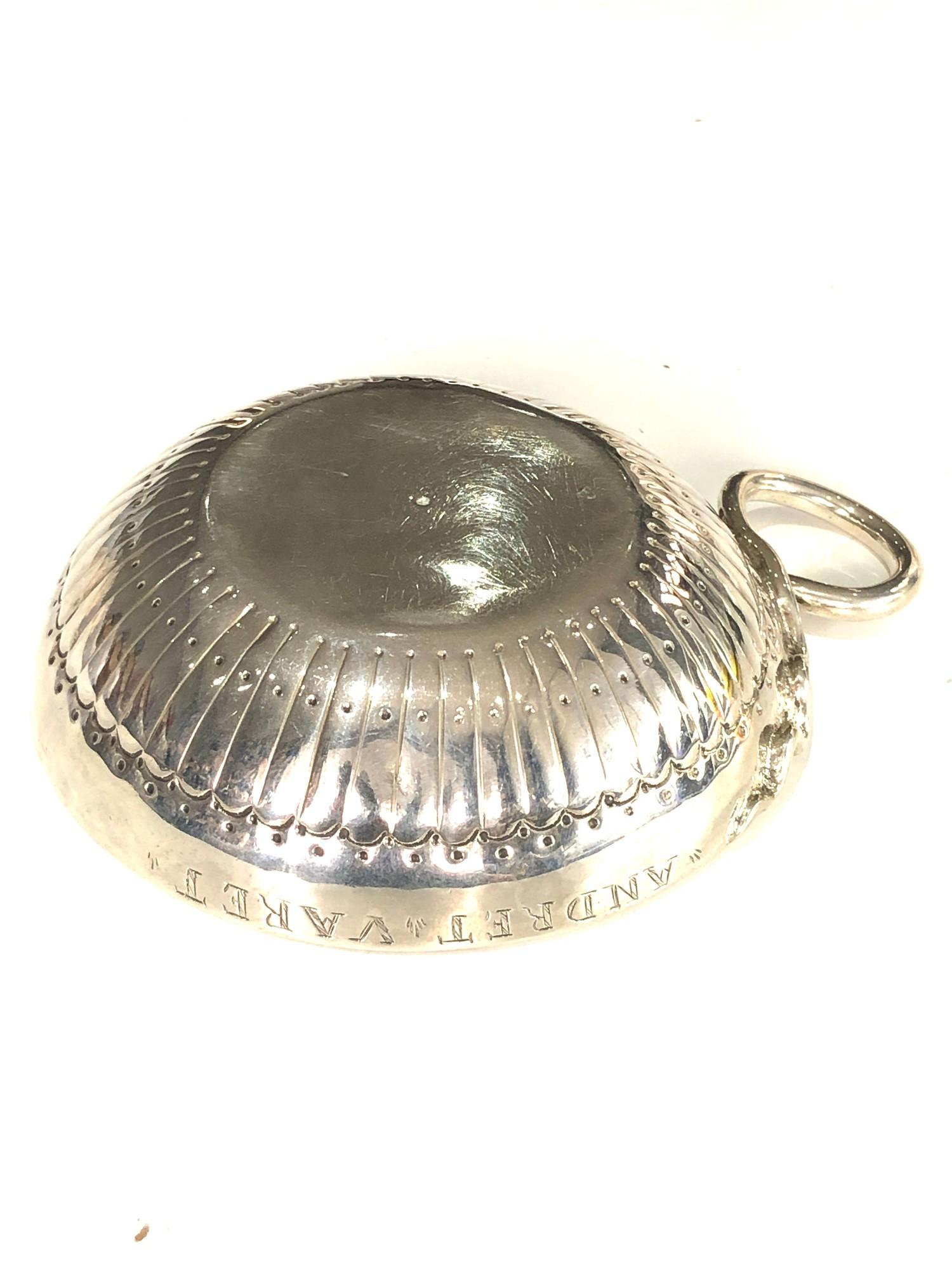 Fine 18th century French silver wine taster measures approx 12cm by bowl 9.5cm dia full hallmarks to - Image 6 of 7