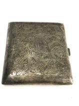 Silver cigarette case weight 66g