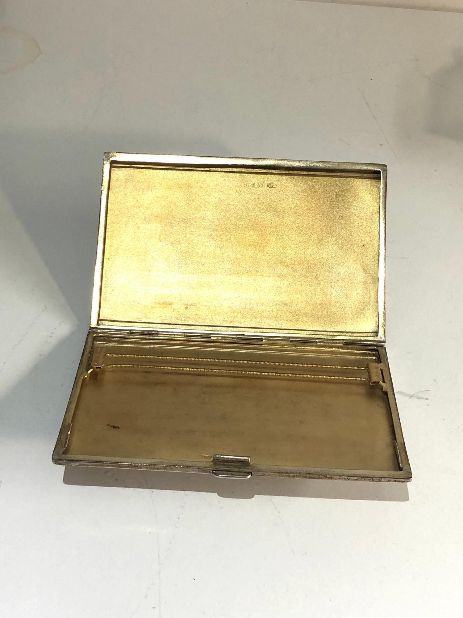 Engine turned silver cigarette case weight 150g - Image 3 of 3