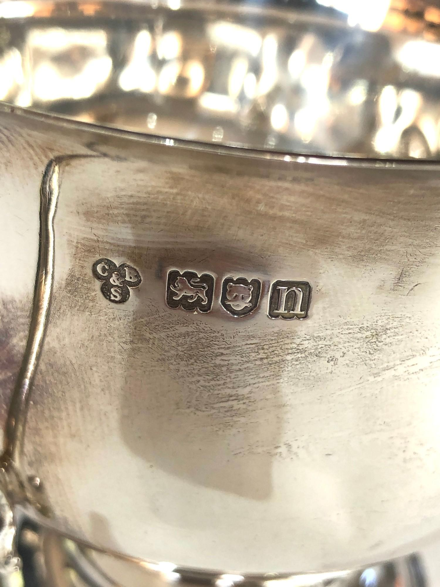 Antique silver 2 handled bowl measures approx 17cm from handles dia 10.5cm height 9cm London - Image 3 of 3