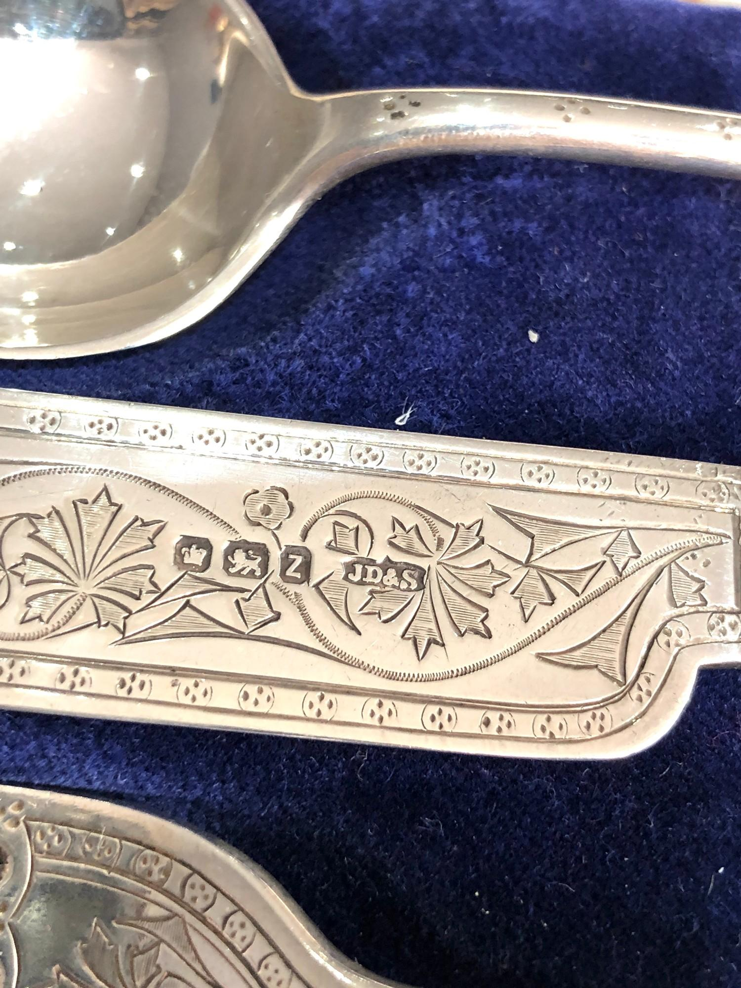 Antique silver christening set boxed james dixon & sons - Image 4 of 5