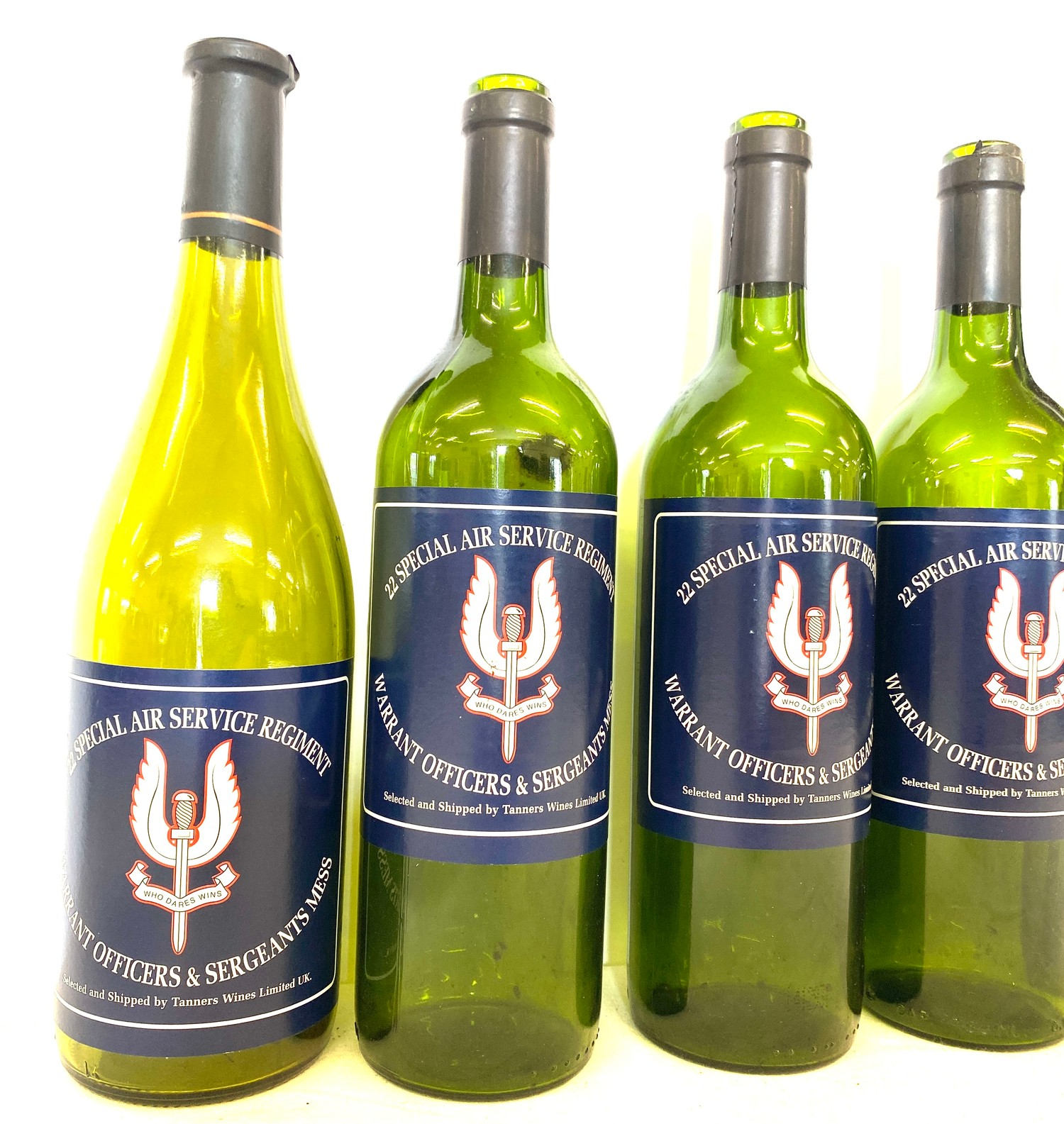 """Box of 13 """"22 Special Service Regiment"""" wine bottles - empty - Image 3 of 3"""
