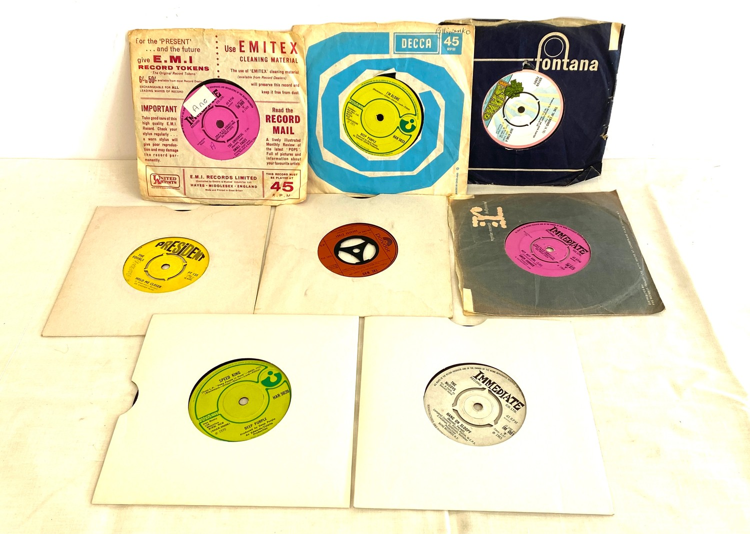 Selection of various 45's Lp's to include Rolling Stones etc