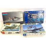 Selection of 4 boxed model air crafts includes, Gotha Go 242/244, Revell P-47N Thunder bolt,