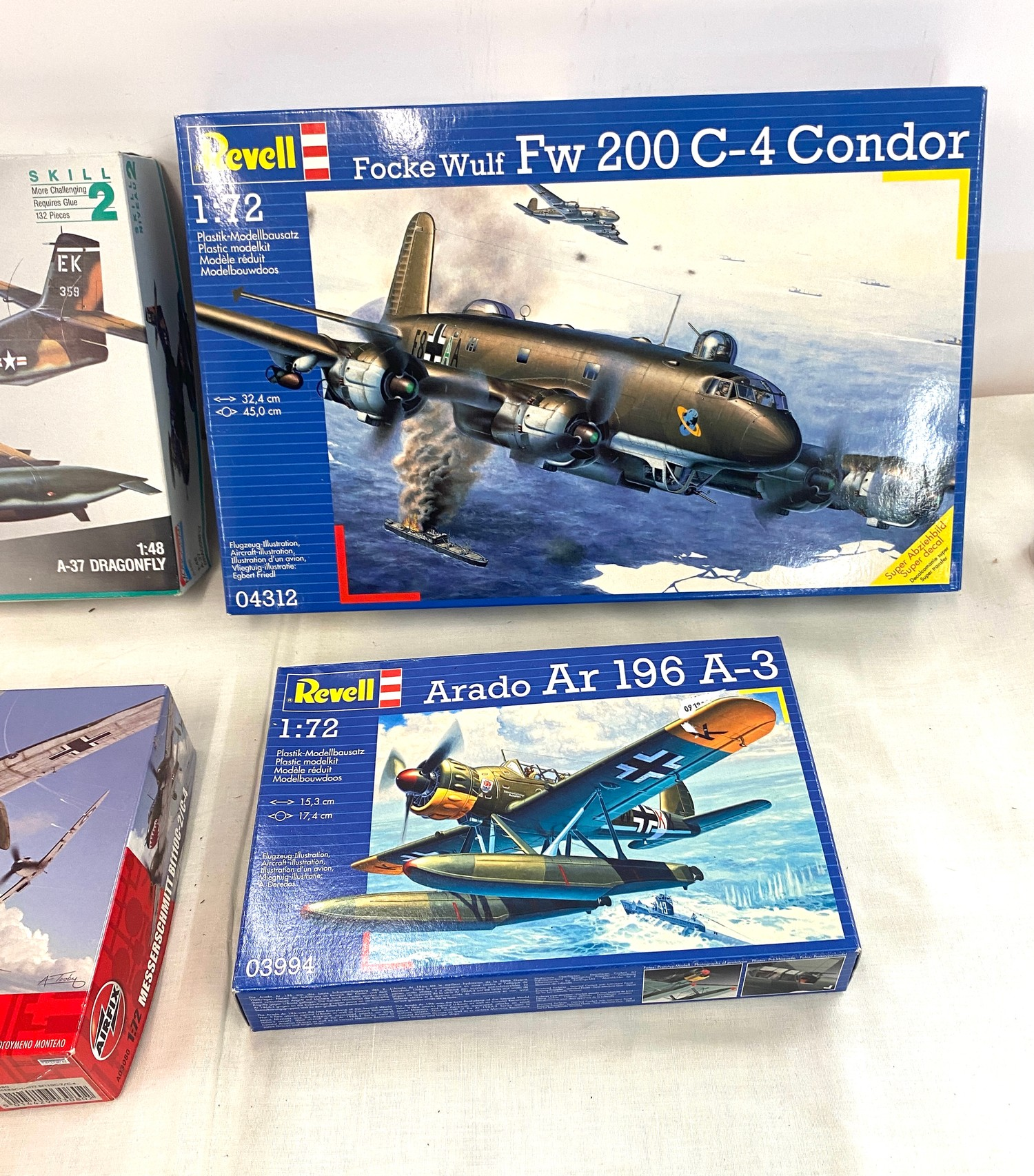 Selection of 4 boxed model air crafts includes, Monogram 5486, Airfix Messerschmitt Bf110C-2, Revell - Image 3 of 3