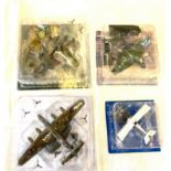 4 Boxed Assorted military aircraft models
