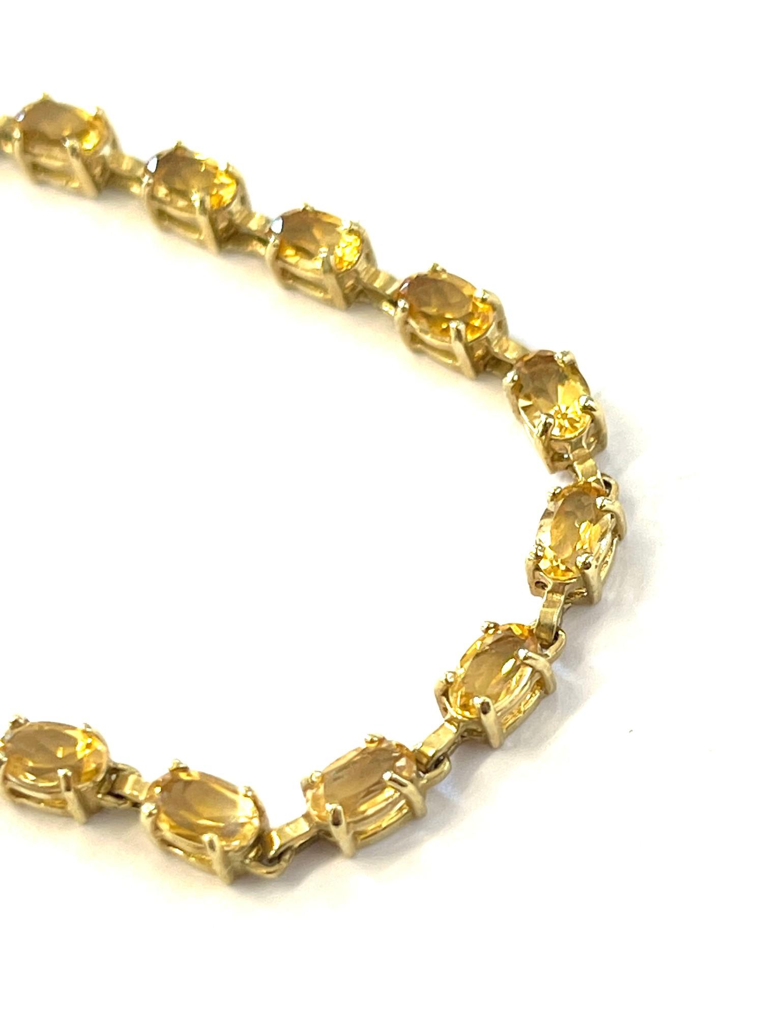 10ct Gold gemstone tennis bracelet - Image 2 of 2
