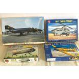 Selection of 4 boxed model air crafts includes, British phantom FG Mk.1, AH-1 Z Viper Combat,