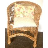 Small wicker childs chair