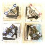 4 Boxed Amercom models includes, 1917 sopwith 1.b1, Bristol Bulldog No 19, Sopwith camel rfc 28,