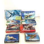 Selection of 8 boxed airfix models to include, cougar F9F-8, EF-111A, T-2 Mitsubishi, Revell 1;72,