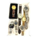 Large selection of assorted gents wrist watches- untested