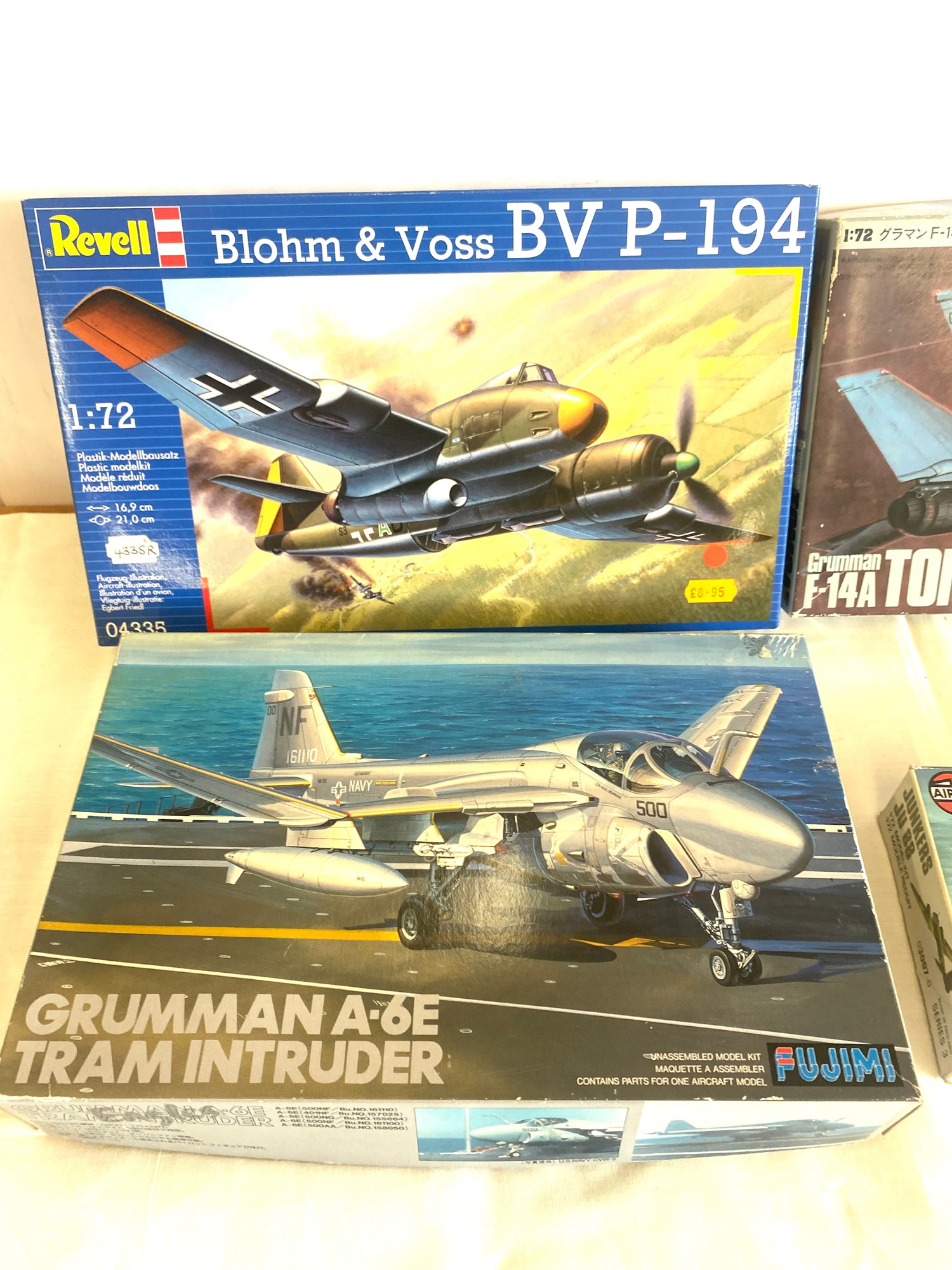 Selection of 4 boxed model air crafts includes, Grumman A-6E Tram, Grumman F-14A Tomcat, Revell - Image 3 of 3