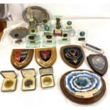 Large selection of fishing trophies