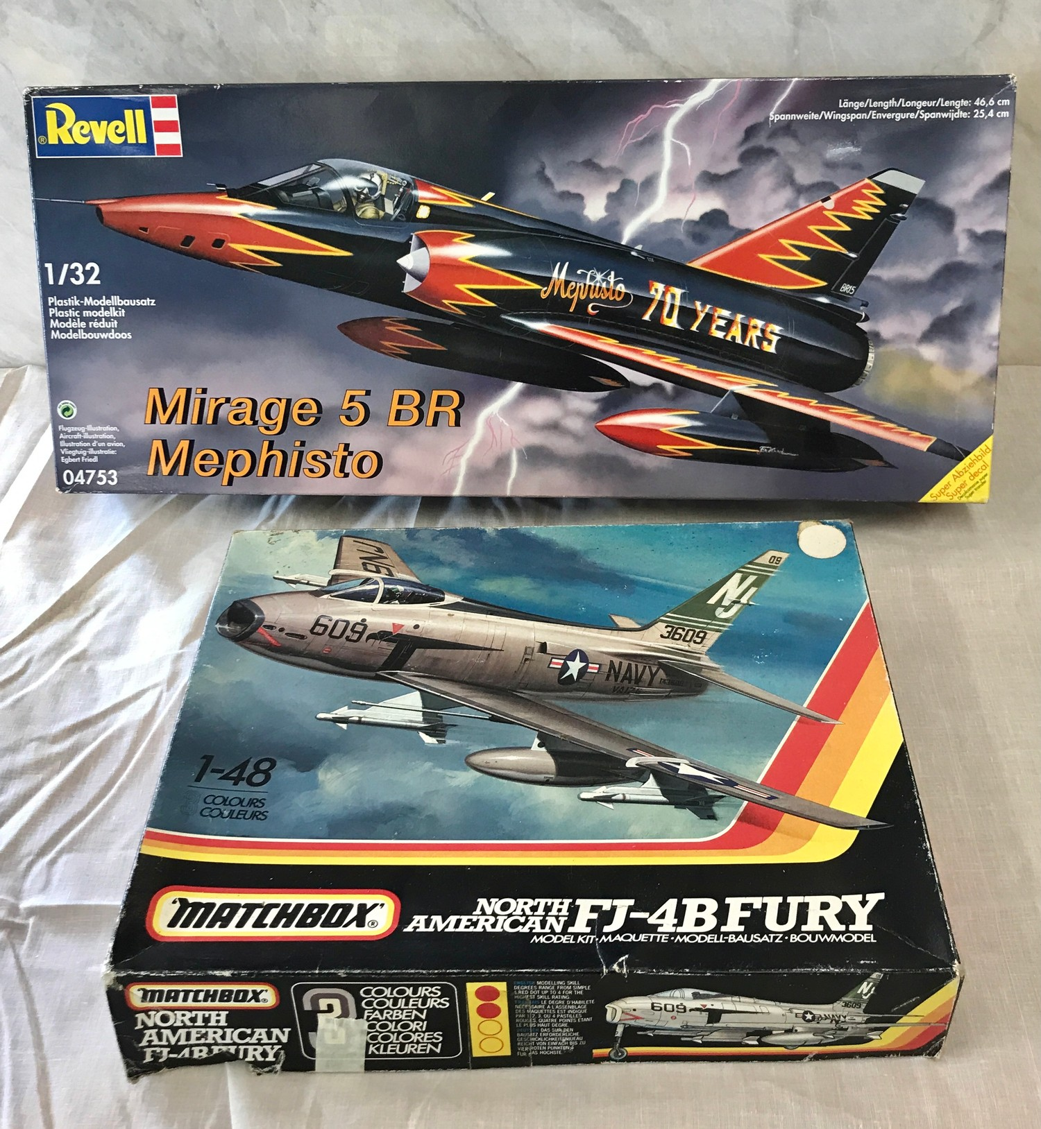 Selection of aircraft models in original boxes, revell Mirage 5 BR Mephisto, Airfix Consolidated B- - Image 2 of 3