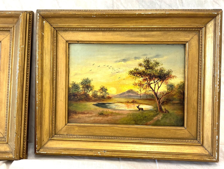 2 Small vintage gilt framed pictures - Image 3 of 4