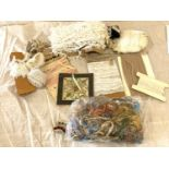 Large selection of lace trimmings etc